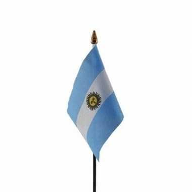 Argentinie vlaggetje met stokje