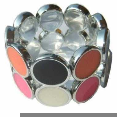 Armband met gekleurde stippen
