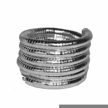 Armband zilver gedraaid