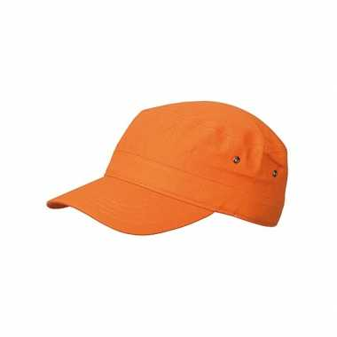 Army caps in oranje kleur