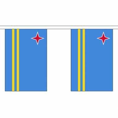 Aruba vlaggenlijn van stof 3 m