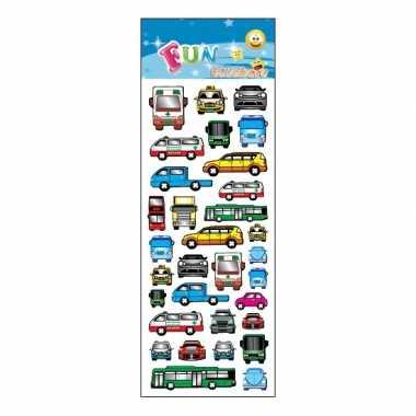 Auto en bussen stickervellen