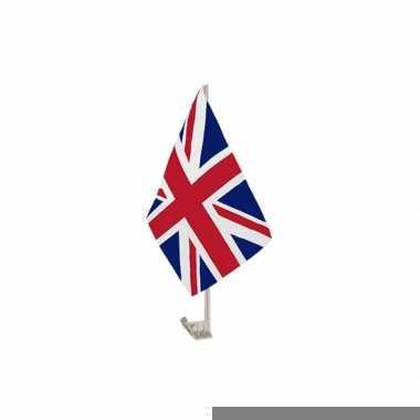 Autovlaggen met union jack vlag