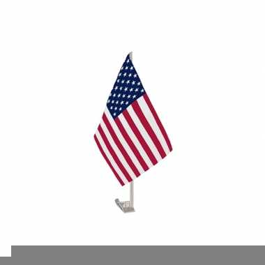 Autovlaggen met usa vlag