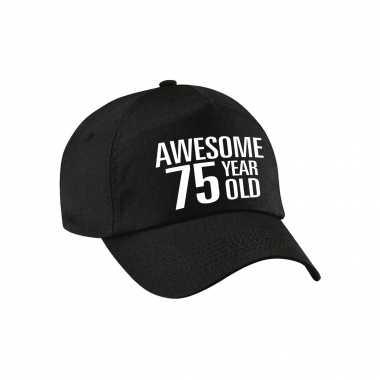 Awesome 75 year old pet / cap zwart voor dames en heren