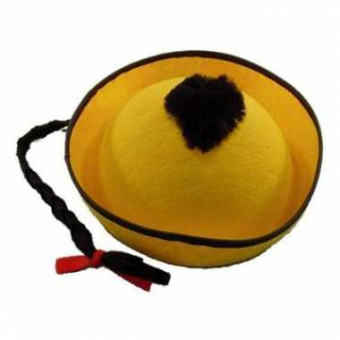 Aziatische hoedjes geel