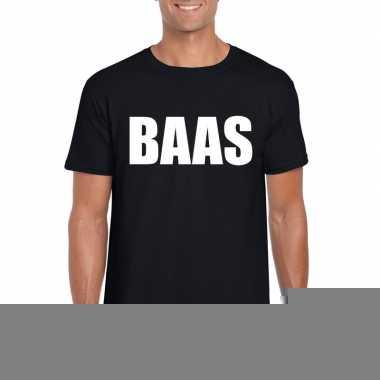 Baas tekst t-shirt zwart heren