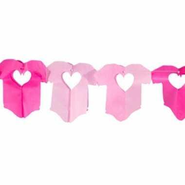 Baby rompertjes roze slinger