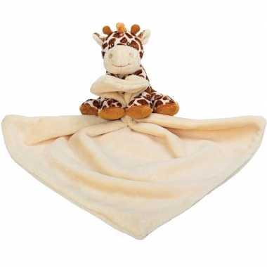 Baby speelgoed artikelen giraffe tuttel/knuffeldoek knuffelbeest brui