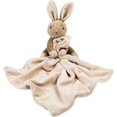 Baby speelgoed artikelen konijn/haas tuttel/knuffeldoek knuffelbeest