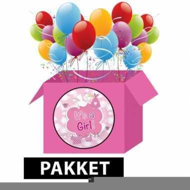 Baby versiering roze pakket