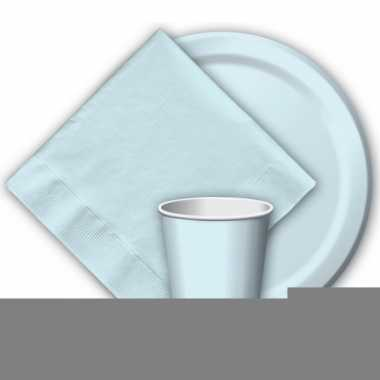 Babyblauwe wegwerp bekertjes 8 stuks