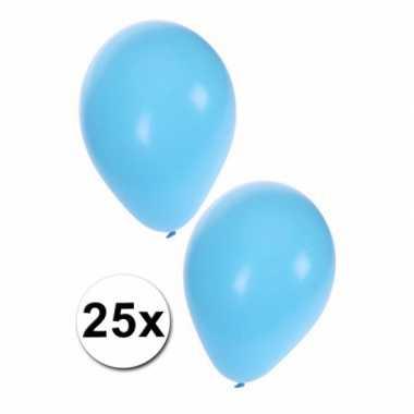 Babyshower ballonnen blauw 25x