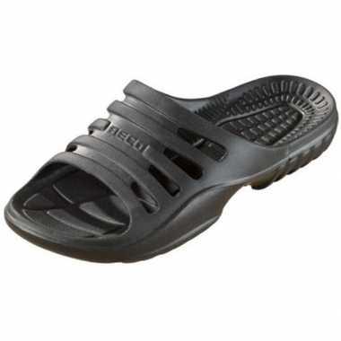 Bad/sauna slippers met voetbed zwart heren