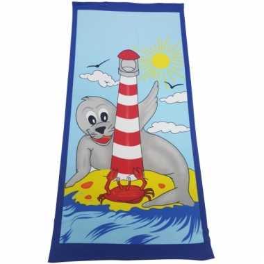 Badhanddoek zeehond dieren 70 x 150
