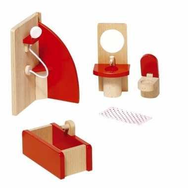 Badkamer meubeltjes voor een poppenhuis