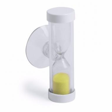 Badkamer / tandenpoets zandloper 2 minuten geel