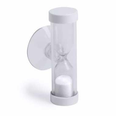 Badkamer / tandenpoets zandloper 2 minuten wit