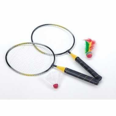 Badminton spel met shuttle