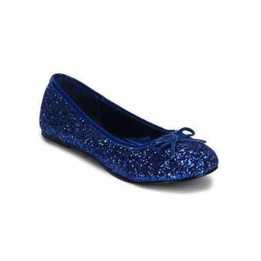 Ballerina flatjes met donkerblauwe glitters