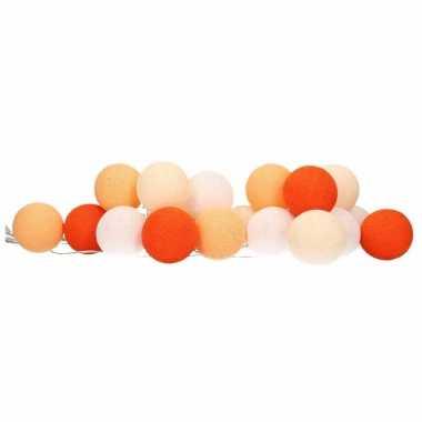 Balletjes feestverlichting oranje