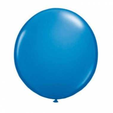 Ballon donker blauw qualatex 90 cm