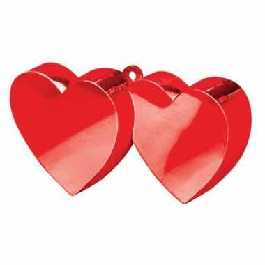 Ballon gewichtjes 2 rode harten