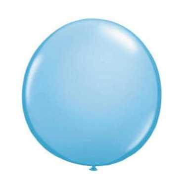 Ballon licht blauw qualatex 90 cm
