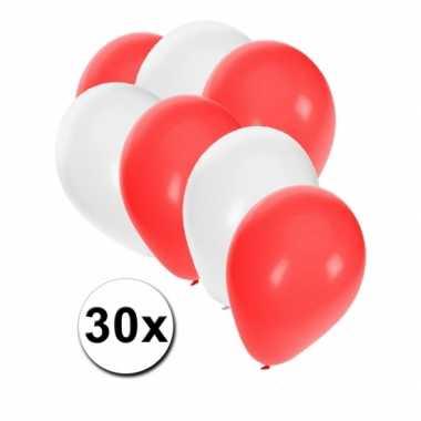 Ballon setje rood en wit