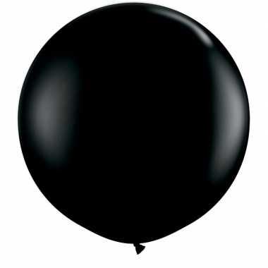 Ballon zwart qualatex 90 cm groot