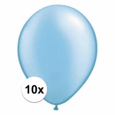 Ballonnen 10 stuks azure blauw qualatex