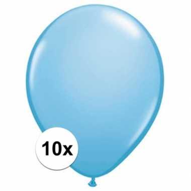 Ballonnen 10 stuks baby blauw qualatex