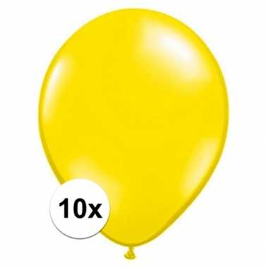 Ballonnen 10 stuks citroen geel qualatex