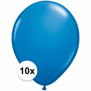 Ballonnen 10 stuks donkerblauw qualatex
