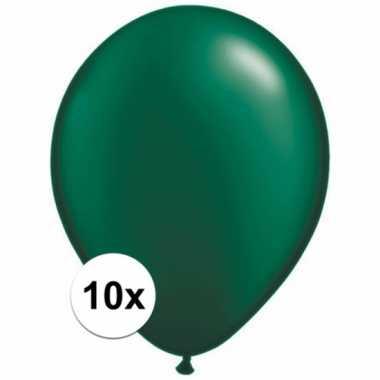 Ballonnen 10 stuks donkergroen qualatex