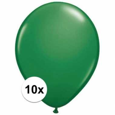 Ballonnen 10 stuks groen qualatex