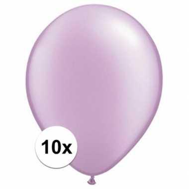 Ballonnen 10 stuks parel lavendel qualatex