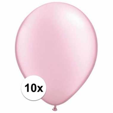 Ballonnen 10 stuks parel roze qualatex