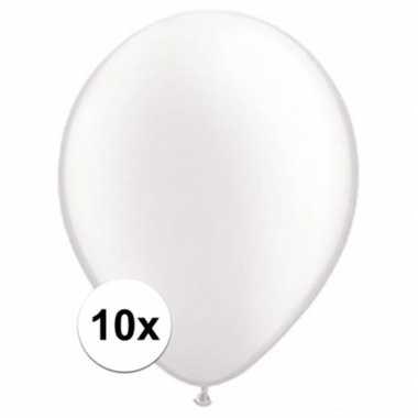 Ballonnen 10 stuks parel wit qualatex