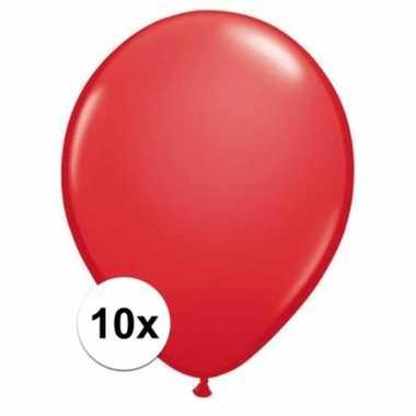 Ballonnen 10 stuks rood qualatex