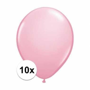 Ballonnen 10 stuks roze qualatex