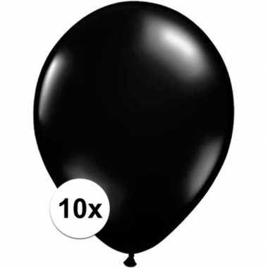 Ballonnen 10 stuks zwart qualatex