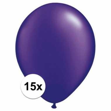 Ballonnen 15 stuks parel paars qualatex