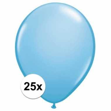 Ballonnen 25 stuks baby blauw qualatex