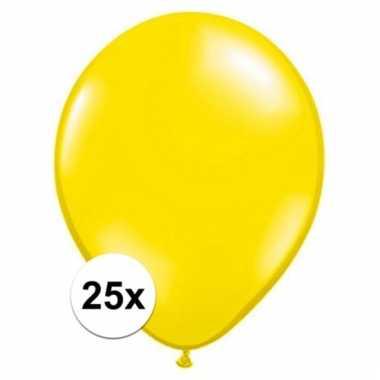 Ballonnen 25 stuks citroen geel qualatex