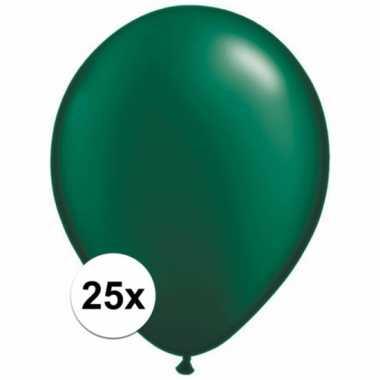 Ballonnen 25 stuks donkergroen qualatex