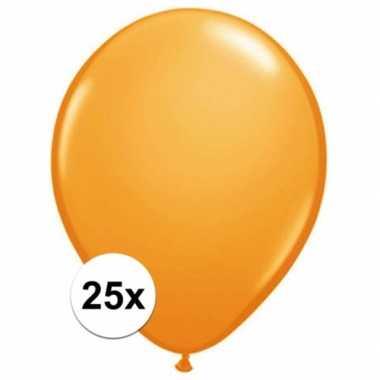 Ballonnen 25 stuks oranje qualatex