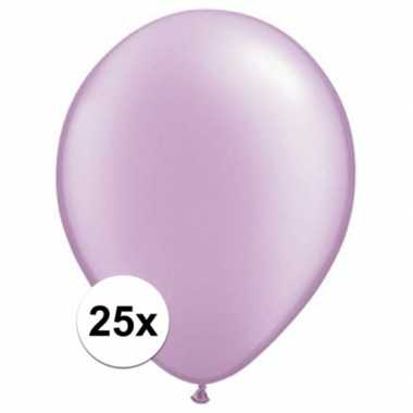 Ballonnen 25 stuks parel lavendel qualatex