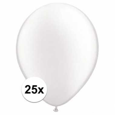 Ballonnen 25 stuks parel wit qualatex