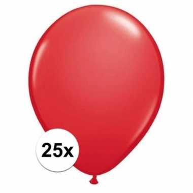 Ballonnen 25 stuks rood qualatex